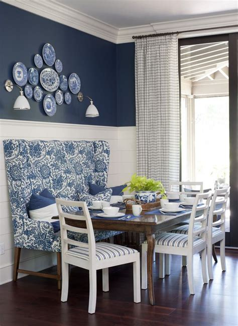 Blue And White Dining Room by 1000 Ideas About White Dining Room Paint On