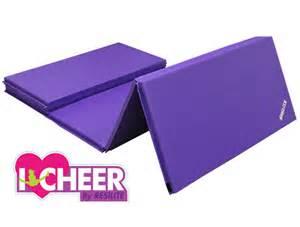 purple cheerleading mats folding tumbling mats