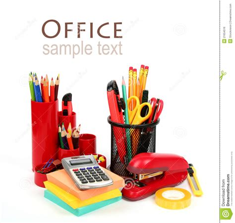 colorful office supplies colorful office supplies royalty free stock image image