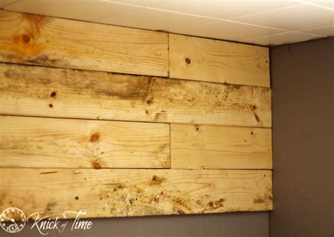 how to install a wood plank wall and my quot dear john quot knick of time