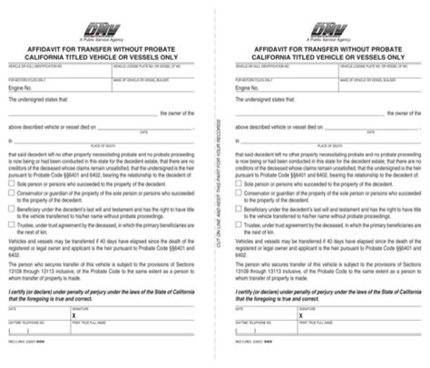 california probate code section 13101 download california affidavit form for free formtemplate