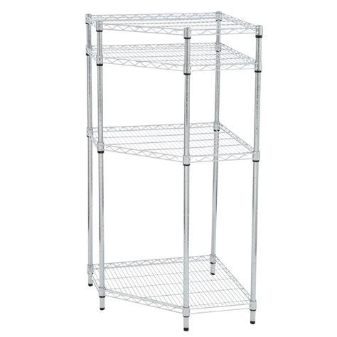 hdx 4 shelf wire corner shelving unit in chrome sl csus