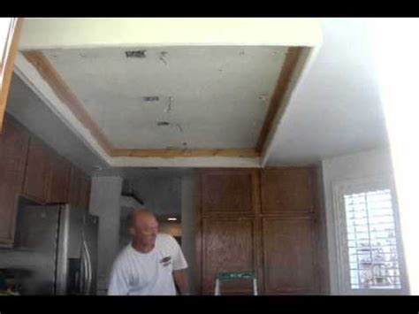 how to remodel kitchen ceiling remodel youtube