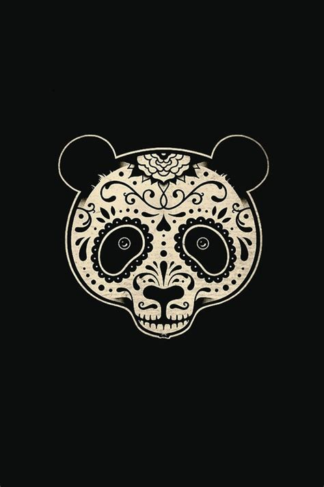 panda tattoo skull panda skull candy style illustrations pinterest