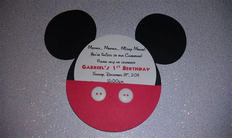 Handmade Mickey Mouse Birthday Invitations - request a custom order and something made just for you