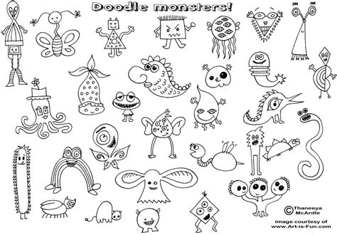 doodle drawing lessons easy doodles doodle monsters html bebo pandco