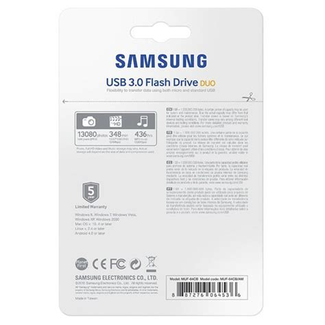 Samsung Otg Usb 3 0 Flash Drive Duo 32gb samsung usb 3 0 duo otg flash drive 32gb muf 32cb jakartanotebook