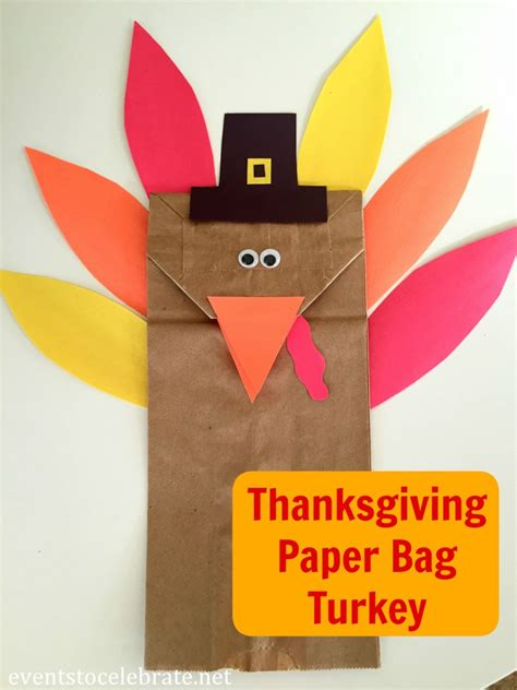 Brown Paper Bag Crafts For Preschoolers - thanksgiving turkey craft for preschool events to celebrate