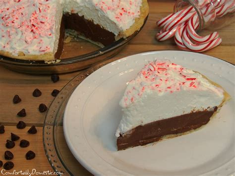 chocolate peppermint tis the season for chocolate peppermint cream pie