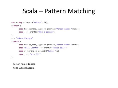 pattern matching scala list scala effective java