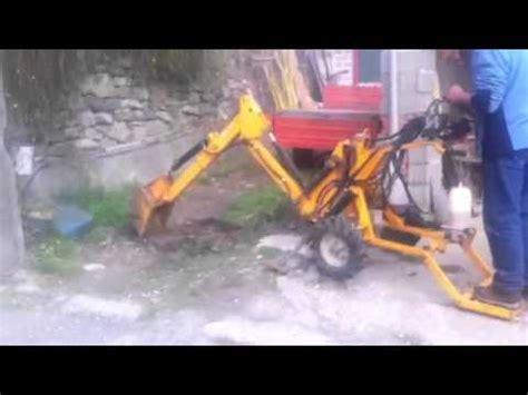 escavatore da giardino mini escavatore fai da te doovi