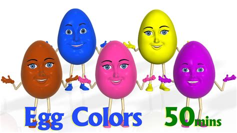 rhymes with color eggs color songs learn colours 3d egg colors