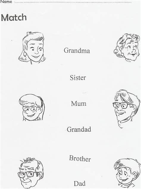 imagenes sobre la familia en ingles la familia en ingles para colorear imagui familia