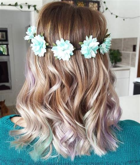blonde ombre highlights subtle 20 fresh teal hair color ideas for blondes and brunettes