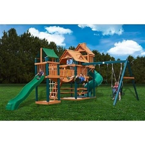 swing set with monkey bars playground outdoor wooden playset swing set kids play tent