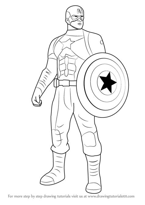 Learn How To Draw Captain America From Captain America Captain America Civil War Coloring Pages