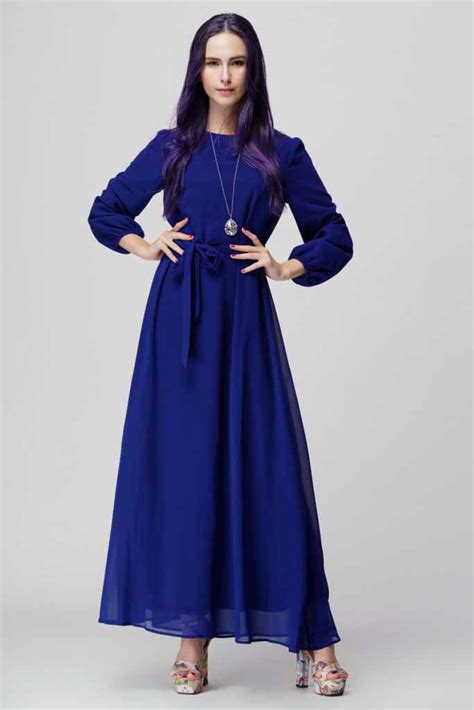 Baju Import India 07 baju gamis biru simple korea 2016 jual model terbaru