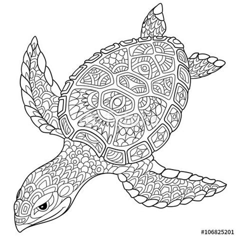 marvelous sea turtles coloring book for adults stress relief coloring book for grown ups books zentangle turtle antistress coloring page