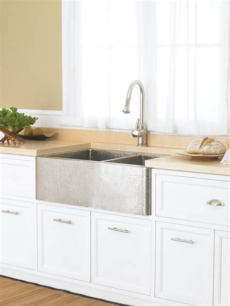 hammered stainless steel sink kitchen farmhouse with