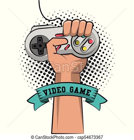 gamer hand  gamepad icon vector illustration graphic