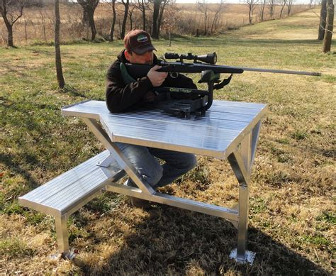 how to build a rifle bench rest bittercreek portable 60 shooting bench shooting and