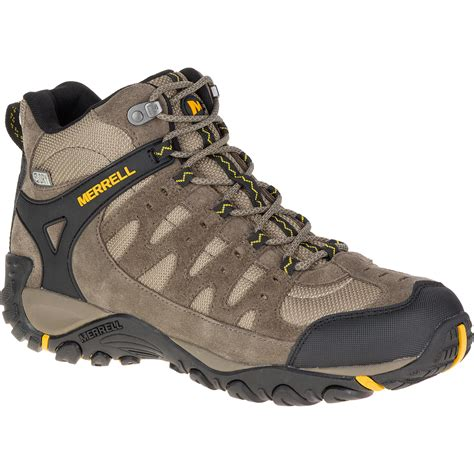 mens mid hiking boots merrell men s accentor waterproof mid hiking boots