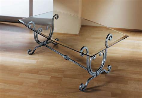 tavolo ferro battuto e vetro tavoli in ferro battuto foto design mag