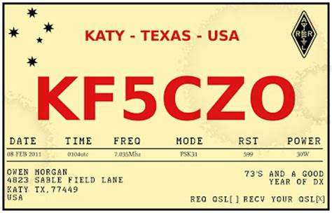 Kf5czo Retro Qsl Card Design Qsl Card Template Photoshop