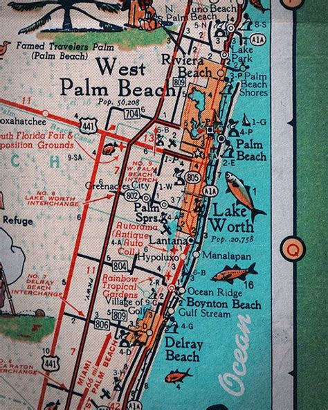 map palm florida 62 best images about retro maps on miami