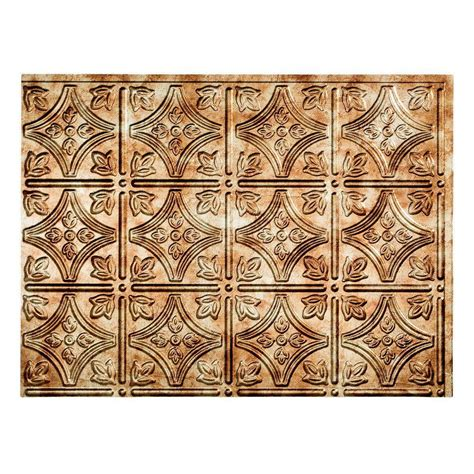 fasade backsplash panels fasade 24 in x 18 in traditional 1 pvc decorative backsplash panel in rubbed bronze b50 26