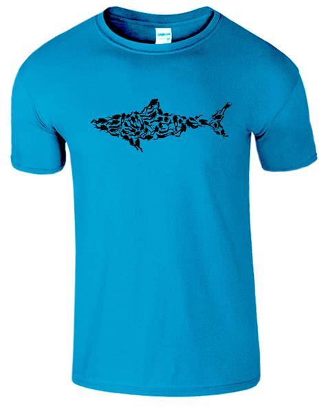 Tshirt Scuba Diving shark mens t shirt scuba diving comedy diver top
