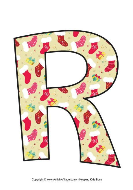 printable alphabet letters for christmas traditional christmas letter printable r 1