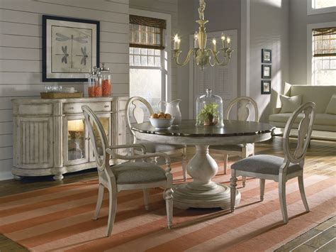 round dining room sets belmar antique linen round dining room set from art