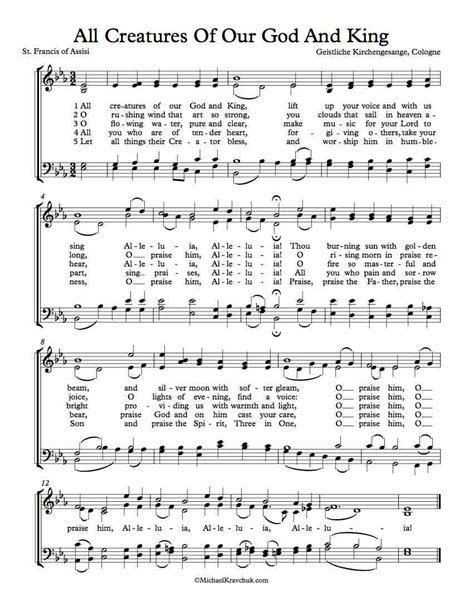 all creatures of our god and king by amy webb satb free choir sheet music all creatures of our god and king