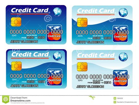 Credit Card Template Editable Credit Cards Template Stock Photography Image 7859232