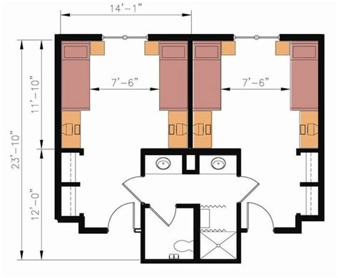 college bed size layout dorm and dormitory on pinterest