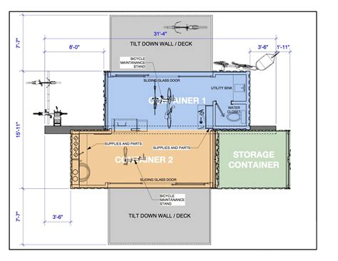 Floor Layout Plans container bicycle shop cmcosteel