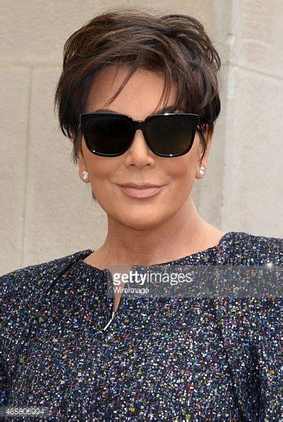 kris jenner haircut 2015 chanel outside arrivals paris fashion week womenswear