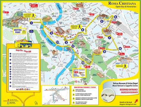 tourist map of tourist map of rome city centre travel
