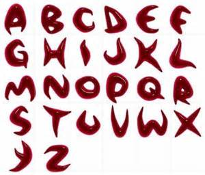 Graffiti alphabet letters red blood graffiti alphabet letters