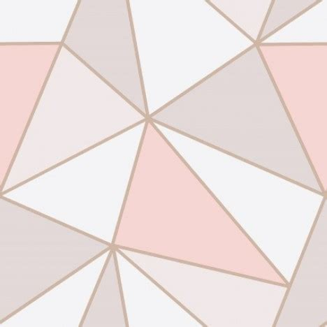 gold geometric wallpaper fine decor apex geometric wallpaper fd41993 pink rose