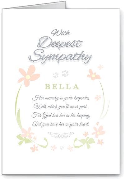 content template for veterinary sympathy card sympathy cards pet sympathy card pet
