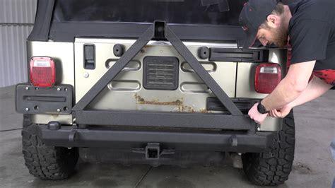 jeep yj rear bumper fb22017 yj tj wrangler rear bumper with tire carrier