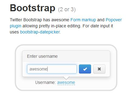 bootstrap editable tutorial x editable in place editing with twitter bootstrap