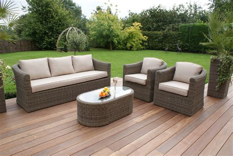 3 seat outdoor sofa set maze winchester rattan 3 seat sofa set with curved coffee