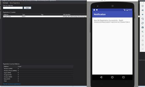 send from android firebase unable to send notification on android using azure notification hub stack overflow