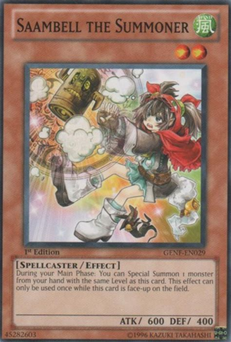 saambell the summoner genf en029 common unlimited edition yu gi oh singles 187 generation