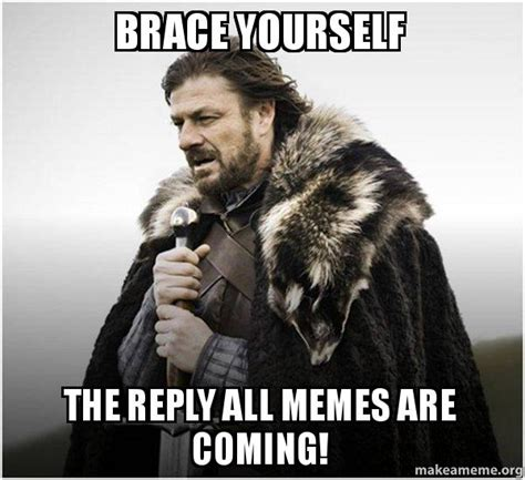 Reply All Meme - brace yourself the reply all memes are coming brace
