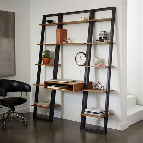 ladder bookshelf and desk furniture kicking ladder shelf