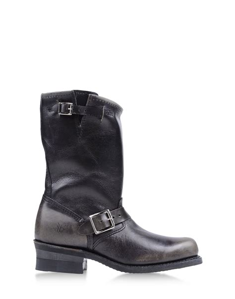 frye ankle boots in black lyst